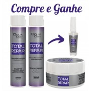 KIT TOTAL REPAIR + SPRAY REGENERADOR 30ML GRÁTIS