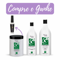 DOUX CLAIR KIT X3 RELAXER + LEAVE IN 5 EM 1 GRÁTIS